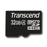 TRANSCEND Memory ( flash cards ) 32GB Micro SDHC x 1 Class 4, 1pcs with Adatper(SD 2.0)