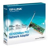 NIC TP-Link TF-3200, 10/100M PCI Network Interface Card, IC Plus chip, RJ45 port, driver CD, retail package