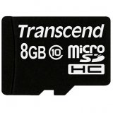 TRANSCEND Flash Card, microSDHC,  8GB  Class 10,   no SD  adapter