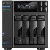 ASUSTOR 4-Bay Tower NAS w/HDMI 1.4a, Single PSU, Intel Core i3 3.5GHz DC, 2GB DDR3 (max 16GB), RAID 0/1/5/6/10/JBOD+single disk, GbE x 2 (w/ link aggregation), 3xUSB 3.0, 2xUSB 2.0, 2x eSATA, LCD panel, IR receiver, S/PDIF Audio, Tray Lock, WoL, MS A