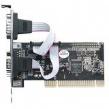 Serial PCI Card, Two External DB9 Ports