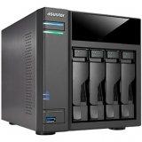 ASUSTOR 6104T 4-Bay NAS w/HDMI, Celeron N3050, 2GB DDR3 (max 8GB), RAID 0/1/5/6/10/JBOD+single disk, GbE x 2, (1+3)x USB 3.0 + 2x eSATA, WoL, HDMI + SPDIF + IR, System Sleep Mode, 4 NVR licenses