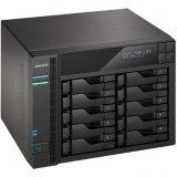ASUSTOR 10-Bay NAS w/HDMI, Celeron J3150, 2GB DDR3 (max 8GB), RAID 0/1/5/6/10/JBOD+single disk, GbE x 4, 3x USB 3.0 + 2x eSATA, WoL, HDMI + SPDIF + IR, System Sleep Mode, 25 NVR licenses