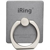 AAUXX iRing Masstige Gray - Compatible with smartphones, Horizontal or vertical kickstand, Rotates 360, swivels 180, Comfortable natural grip, Compact sleek design, Durable structure with polycarbonate plate, STIXX adhesive can detach at any time