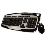 GIGABYTE Keyboard+Mouse MK7600 (wireless combo) Silver/Black, Retail