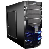 GIGABYTE Case Midi ATX Sumo Alpha, ABS+Steel mesh, Fan, USB 3.0, HD Audio, w/o PSU, Black