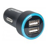 MANHATTAN USB Mobile PopCharge Auto with Two 2.4A Ports, Car Charger, USB A-female, Blister