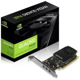 NVIDIA Video Card Quadro P400 GDDR5 2GB/64bit, 256 CUDA  Cores, PCI-E 3.0 x16, 3xminiDP, Cooler, Single Slot, Low Profile (3xmDP-DP Cables, Full Size and Low Profile Bracket incuded)