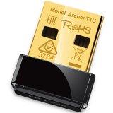 AC450 Wireless Nano USB Adapter, Nano Size, MediaTek, 1T1R, 433Mbps at 5GHz, 802.11ac/n/a, USB 2.0, 1 internal antenna