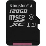 KINGSTON 128GB microSDXC Canvas Select 80R CL10 UHS-I Single Pack w/o Adapter