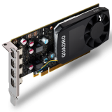 PNY NVIDIA Video Card Quadro P620 GDDR5 2GB/128bit, 512 CUDA Cores, PCI-E 3.0 x16, 4xminiDP, Cooler, Single Slot, Low Profile (4xmDP-DP Cables, Full Size and Low Profile Bracket incuded) 3yr. warr. Bulk