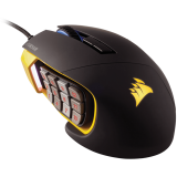 Corsair Gaming Scimitar RGB MOBA/MMO PC Gaming Mouse, Optical, up to 12000 dpi, Key Slider Mechanical Buttons, 4 Zone RGB (EU version)