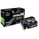 Inno3D Video Card GeForce GTX 1050 Ti Compact X1 GDDR5 4GB/128bit, 1290MHz/7000MHz, PCI-E 3.0 x16, HDMI, DVI-D, DP, Herculez 1000 Cooler (Double Slot), Retail