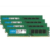 Crucial DRAM 64GB Kit (16GBx4) DDR4 2666 MT/s (PC4-21300) CL19 DR x8 Unbuffered DIMM 288pin, EAN: 649528780119