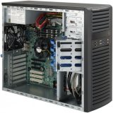 Supermicro CSE-732D4-903B, Mid-Tower, Front I/O, Fixed HD SATA/SAS,  903W - Black
