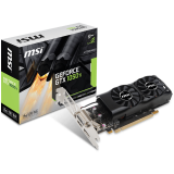 MSI Video Card GeForce GTX 1050 Ti GDDR5 4GB/128bit, 1290MHz/7008MHz, PCI-E 3.0 x16, DP, HDMI, DVI-D, Dual Fan 2X Cooler (Double Slot), Low-profile, Retail