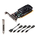 PNY NVIDIA Video Card Quadro P620 GDDR5 2GB/128bit, 512 CUDA Cores, PCI-E 3.0 x16, 4xminiDP, Cooler, Single Slot, Low Profile (4xmDP-DP Cables, Full Size and Low Profile Bracket included) 3yr. warr., Bulk 10 pcs package