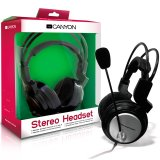 CANYON Headset , 20Hz-20kHz, Ext. Microphone, color Black , cable integrated volume control, adjustable, lightweight headband