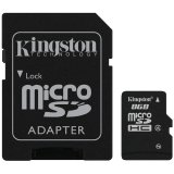 Kingston 8GB microSDHC Class 4 Flash Card + SD Adapter EAN: 740617128147