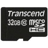 TRANSCEND Flash Card, microSDHC, 32GB, Class 10, UHS-1