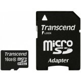 TRANSCEND Flash Card, microSDHC, 16GB, Class 10, UHS-1 300X, with microSDHC adapter