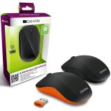 CANYON CNR-MSOW07B Black color,  3 buttons and 1 scroll wheel with 1000 dpi 2.4GHZ wireless optical mouse
