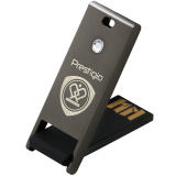 PRESTIGIO 16GB USB 2.0 Crystal Flash Drive Gun Metal with Transperent crystal