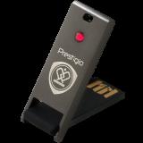 PRESTIGIO 32GB USB 2.0 Crystal Flash Drive Gun Metal with Red crystal