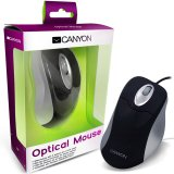 Input Devices - Mouse CANYON CNR-MSO03 (,Cable, Optical 800dpi,3 btn,USB), Black/Silver