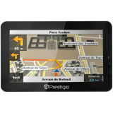 PRESTIGIO GPS GeoVision 5700BTHD (5'',4GB,128MB RAM,Atlas V,BT,FM Transmitter) with iGO Primo with preinstalled maps of the Full Europe