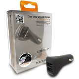 CANYON CNA-CARCH02B Dual USB 12V car charger, compatible with iPod, iPhone, iPad, smart phones and other USB-powered devices, charges one iPod, iPhone, iPad or two other USB devices at the same time