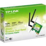 NIC TP-Link TL-WDN3800, PCI Express Adapter, Dual Band Wireless N 300Mbps, Detachable Omni Directional Antenna 2 x 2dBi (RP-SMA)