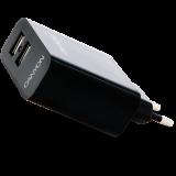 CANYON Dual USB Wall Charger, Black, Retail (x7.45cm)