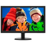 Monitor LED PHILIPS V-Line 243V5LSB/00 (23.6', TN, 16.9, 1920x1080, 5ms, 10M:1, 250 cd/m2, VGA, DVI, VESA) Black