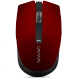 CANYON Mouse CNS-CMSW5 (Wireless, Optical 800/1280 dpi, 4 btn, USB, power saving technology), Red