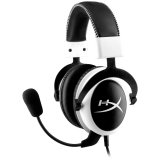 Kingston HyperX Gaming Headset, Cloud, white, 53mm drivers, 3.5mm jack, noise-cancellation microphone, aluminium frame, 1m + 2m extension + 10cm iPhone , EAN: 740617232547