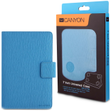 CANYON CNS-CUT7BL Blue color universal case with stand suitable for most 7' tablets(Max. size up to 193*119*11mm)