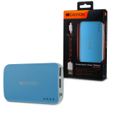CANYON CNE-CPB78BL Blue color portable battery charger with 7800mAh, micro USB input 5V/1A and USB output 5V/1A(max.)