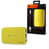 CANYON CNE-CPB78Y Yellow color portable battery charger with 7800mAh, micro USB input 5V/1A and USB output 5V/1A(max.)