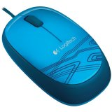 LOGITECH Corded Mouse M105 - EER2 - BLUE
