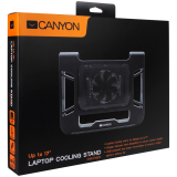 Canyon Laptop Cooling Stand for laptop up to 17', black, cable length 0.6m, 370*295*55mm, 0.15kg