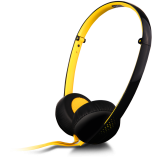 Canyon stereo headphone; 3.5mm plug; black with yellow color
