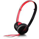 Canyon stereo headphone, 3.5mm plug, black with red color