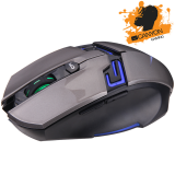 CANYON Gaming Mouse CND-SGM7 (Wired, Optical 400/800/1600/3200 dpi, 125/500/1000Hz, 3600 fps, 30g, 6 btn, USB),Silver-Gray