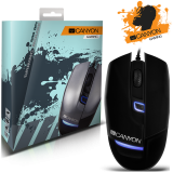 CANYON Gaming Mouse CNS-SGM4 (Wired, Optical 800/1200/1600 dpi, 125Hz, 4000 fps, 15g, 4 btn, USB), Black