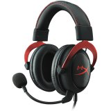Kingston HyperX Gaming Headset, Cloud II Pro, red, 53mm drivers, USB/3.5mm jack, noise-cancellation microphone, aluminium frame, Audio Control Box, 1m + 2m extension , EAN: 740617235692