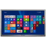 Dual PC & Dual OS: Windows 8.1 Pro + Android 4.2.1, IR Touch System: 10-point touch, Display: 65