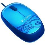LOGITECH Corded Mouse M105 - EWR2 - BLUE