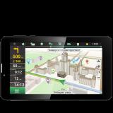 PRESTIGIO GPS GeoVision Tour (7', TFT, 1024x600, Android 4.4, Cortex A7 DC 1.3 GHz, 512 MB RAM, 4 GB internal, 16 GB microSD card, 0.3 MP front camera, FM, 3G, WiFi, Bluetooth, SIM card slot, 2500 mAh, Black, Plastic, Navitel navigation software, preinsta