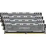 Crucial DRAM 32GB Kit (8GBx4) DDR4 2400 MT/s (PC4-19200) CL16 DR x8 Unbuffered DIMM 288pin Ballistix Sport LT DDR4 1.2V, Digital camo heat spreader and black PCB, EAN: 649528771384